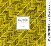 halftone herringbone vintage... | Shutterstock .eps vector #776017372