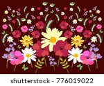 endless meadow pattern with... | Shutterstock .eps vector #776019022