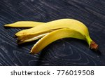 banana peel on a dark... | Shutterstock . vector #776019508