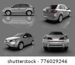 set compact city crossover... | Shutterstock . vector #776029246