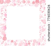 pink petals confetti frame or... | Shutterstock .eps vector #776030626