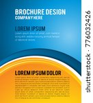 vector brochure  flyer ... | Shutterstock .eps vector #776032426