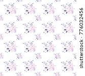 seamless floral pattern.... | Shutterstock .eps vector #776032456