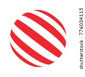 vector red striped candy ball... | Shutterstock .eps vector #776034115
