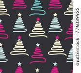 christmas pattern with colorful ... | Shutterstock .eps vector #776039932