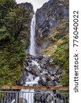 devils punchbowl waterfall... | Shutterstock . vector #776040022