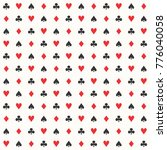 playing cards pattern vector | Shutterstock .eps vector #776040058