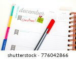 december 25 page planner with... | Shutterstock . vector #776042866