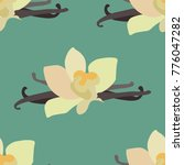 vanilla flower vector background | Shutterstock .eps vector #776047282