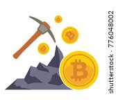 bitcoin mining concept with... | Shutterstock .eps vector #776048002