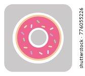 donut with pink glaze. donut... | Shutterstock .eps vector #776055226