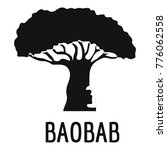 baobab tree icon. simple... | Shutterstock .eps vector #776062558