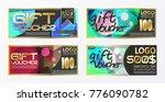 gift certificate voucher coupon ...   Shutterstock .eps vector #776090782
