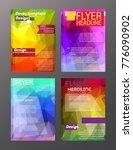 vector brochure flyer design... | Shutterstock .eps vector #776090902