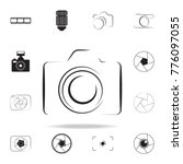 photo camera silhouette logo... | Shutterstock .eps vector #776097055