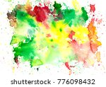 watercolor stain background.... | Shutterstock . vector #776098432