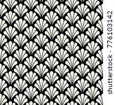 vector floral art deco seamless ... | Shutterstock .eps vector #776103142