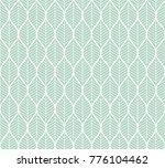 trendy tropical leaves vector... | Shutterstock .eps vector #776104462