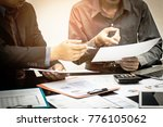 business team financial... | Shutterstock . vector #776105062