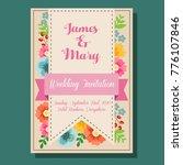 wedding invitation flower chic | Shutterstock .eps vector #776107846