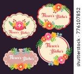 cute flower sticker | Shutterstock .eps vector #776107852