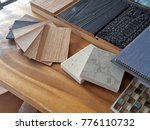 samples of material  wood  ... | Shutterstock . vector #776110732