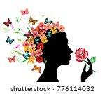 vector illustration of a woman... | Shutterstock .eps vector #776114032