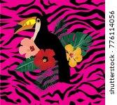 vector illustration of a toucan ... | Shutterstock .eps vector #776114056