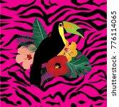 vector illustration of a toucan ... | Shutterstock .eps vector #776114065