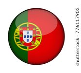 portugal flag in glossy round... | Shutterstock .eps vector #776117902