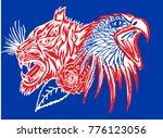 russia soccer ball wild tiger... | Shutterstock .eps vector #776123056
