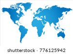 world map with angle in blue ... | Shutterstock .eps vector #776125942