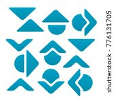 collection of blue arrow icon...