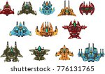 collection of space ships for...   Shutterstock .eps vector #776131765