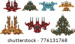 collection of space ships for... | Shutterstock .eps vector #776131768
