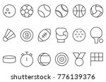 sports icon set  such as... | Shutterstock .eps vector #776139376