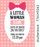 baby girl shower card. colorful ...   Shutterstock .eps vector #776145262
