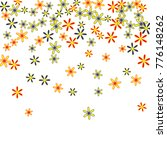 cute floral pattern with simple ... | Shutterstock .eps vector #776148262