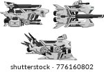 collection of space ships for... | Shutterstock .eps vector #776160802