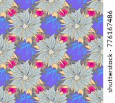 vector seamless pattern with... | Shutterstock .eps vector #776167486