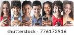 addiction to smartphones  | Shutterstock . vector #776172916
