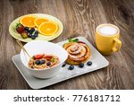 photo of healthy breakfast on... | Shutterstock . vector #776181712