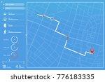 flat design dashboard.... | Shutterstock .eps vector #776183335