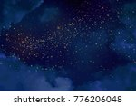 magic night dark blue sky with... | Shutterstock .eps vector #776206048