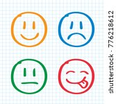 modern outline style emoji... | Shutterstock .eps vector #776218612