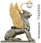 winged lion from saint... | Shutterstock .eps vector #776229202
