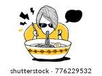 ramen noodles. good for mural...   Shutterstock .eps vector #776229532