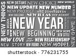 happy new year greeting card... | Shutterstock . vector #776231755