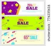 abstract set of creative banner ... | Shutterstock .eps vector #776235616