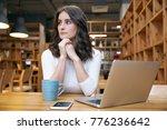 young attractive elegant woman... | Shutterstock . vector #776236642